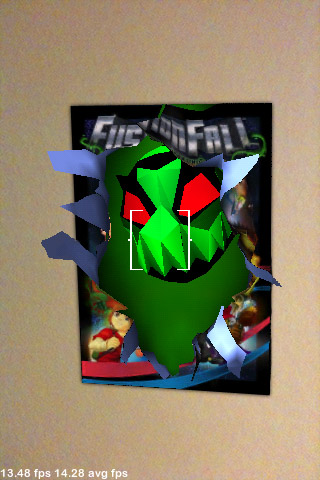 Fusion Fall poster with fuse monster emerging